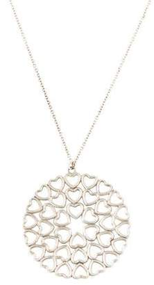 Tiffany & Co. Crown of Hearts Medallion Pendant Necklace