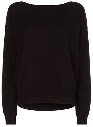 Claudie Pierlot Cashmere Reverse Tie Sweater