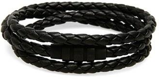 Men's Porsche Design 'Grooves' Wrap Bracelet $310 thestylecure.com