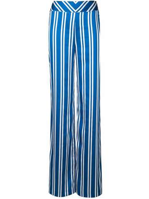 Margaux Rouge striped flared trousers