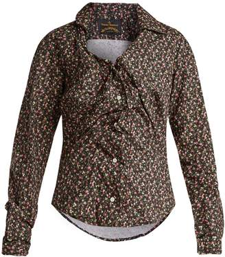Vivienne Westwood Floral-print twisted-front blouse