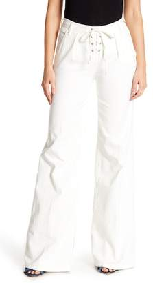 Frame Le Capri Lace-Up Wide Leg Pants
