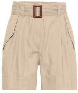 Brunello Cucinelli High-rise cotton shorts