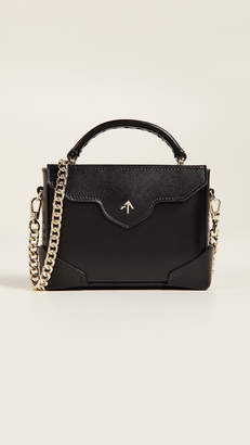 Atelier MANU Micro Bold Top Handle Bag with Gold Chain