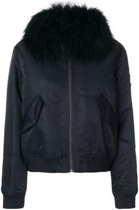 Yves Salomon Army trim bomber jacket