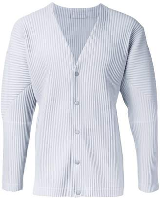 Issey Miyake Homme Plissé pleated button fastening cardigan
