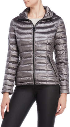 Calvin Klein Hooded Quilted Down Jacket