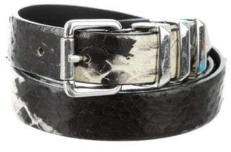The Kooples Embossed Leather Buckle Belt