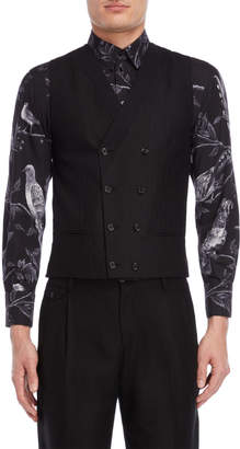 Dolce & Gabbana Black Double-Breasted Vest