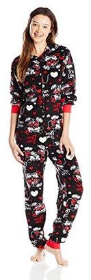 Disney Women's Minnie Mouse One-Piece Pajama Bodysuit $60 thestylecure.com