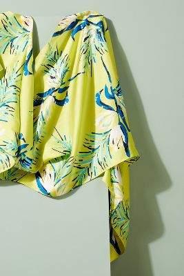 Echo Haidi Tropical Print Silk Scarf