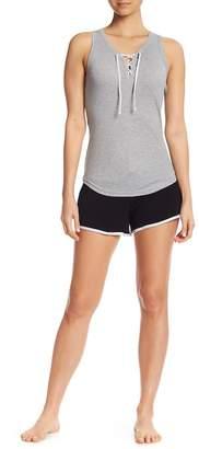 Couture PJ Lace-Up Racerback & Shorts PJ Set