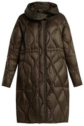 Moncler Manthus Wave Quilted Down Filled Coat - Womens - Khaki