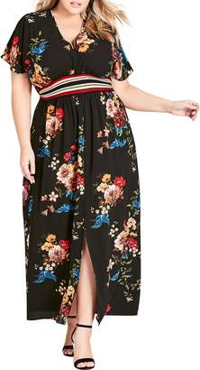 City Chic Avairy Floral Maxi Dress
