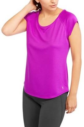 Danskin Women's Short Sleeve Mesh T-Shirt with Open Back