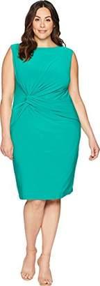 Adrianna Papell Women's Plus Size Matte Jersey Sheath Dress