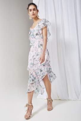 Keepsake SWEET LOVE MIDI DRESS sage rose floral