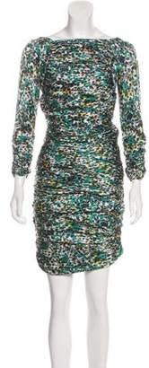 Diane von Furstenberg Keena Silk Printed Knee-Length Dress