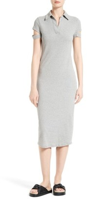Women's Helmut Lang Rib Cotton Dress $295 thestylecure.com