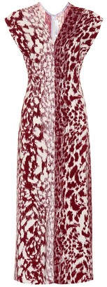 Victoria Beckham Printed cady midi dress