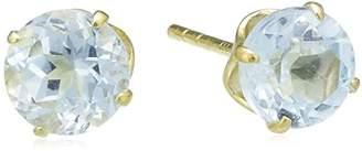 Celesta Fascination by Ellen K. 216320041-6 Women's Stud Earrings, 8-Carat (333) Yellow Gold and Blue Topaz