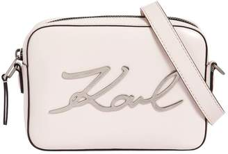 Karl Lagerfeld K/Signature Leather Camera Bag