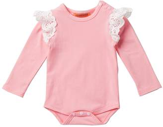 Funkyberry Lace Ruffle Bodysuit (Baby, Toddler, Little Girls)