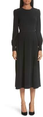 Co Essentials Pleated Panel Midi Dress