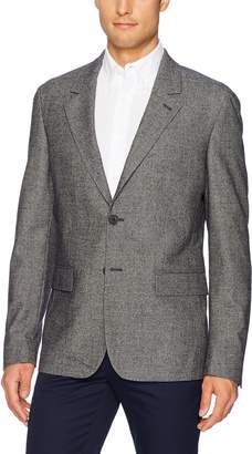 Lacoste Men's Houndstooth Print Buttoned Jacket, Navy Blue/Flour