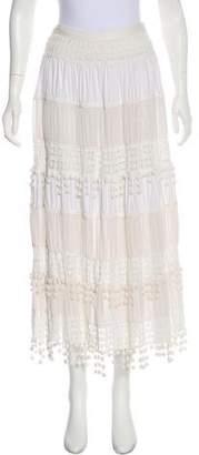 Malandrino Crochet Midi Skirt