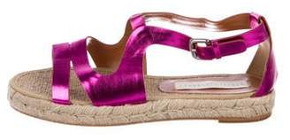 Stella McCartney Metallic Espadrille Sandals