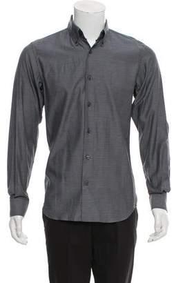 Calvin Klein Collection Silk-Blend Slim-Fit Shirt.