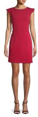 Molly Bracken Ruffled Capsleeve Sheath Dress