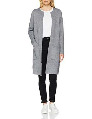 Vero Moda Women's Vmtasty Fullneedle Ls Coatigan Noos Cardigan Medium Grey Melange, 8 (Manufacturer Size: X-Small)