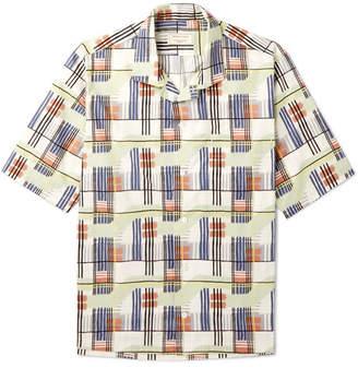 MAISON KITSUNÉ Printed Cotton-Poplin Shirt