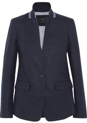 J.Crew - Regent Linen Blazer - Navy $190 thestylecure.com