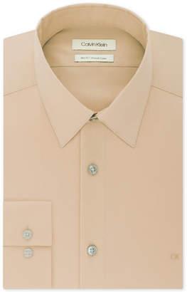 Calvin Klein Men's Slim-Fit Stretch Flex Collar Solid Logo Dress Shirt