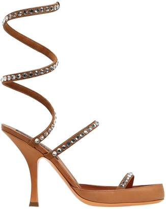 Y/Project 100mm Spirale Embellished Leather Sandal