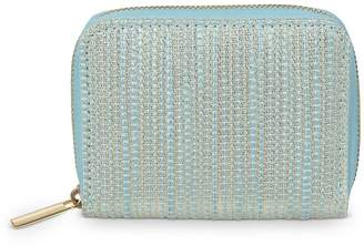 Oliver Bonas Womens Odlie Weave Mini Accessory - Blue