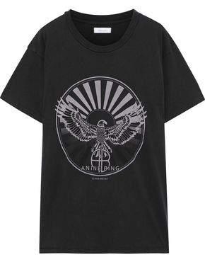 Anine Bing Printed Cotton-jersey T-shirt