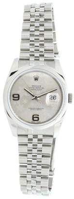 Rolex Datejust 116200 Jubilee Stainless Steel Silver Floral Dial 36mm Watch