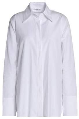 Helmut Lang Lace-Up Cotton-Poplin Shirt