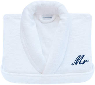 The Fine Cotton Company Personalised Embroidered White Towelling Dressing Gown