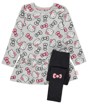 George Hello Kitty Grey Dress and Leggings Outfit
