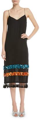 Sachin + Babi Bosphoru Sequin Banded Tassel Slip Dress