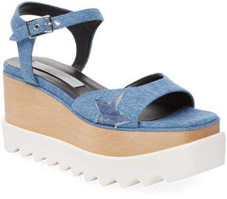 Stella McCartney Eylse Denim Platform Sandal