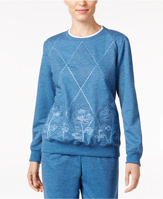 Alfred Dunner Quilted Embroidered Sweatshirt $56 thestylecure.com