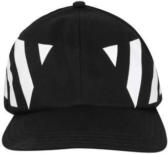 Off-White Off White Diagonal Cotton Cap