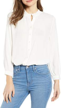 Treasure & Bond Ruffle Collar Blouse