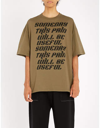 Lanvin Text-print oversized cotton-jersey T-shirt